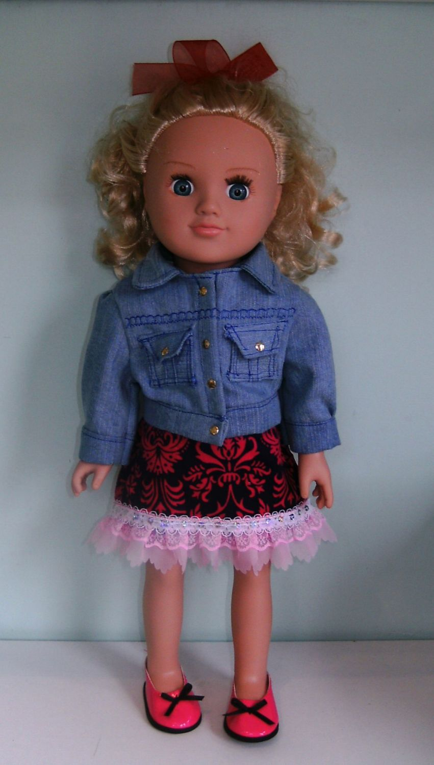 Doll's denim jacket and skirt to fit My Generation doll and most 18 inch hi