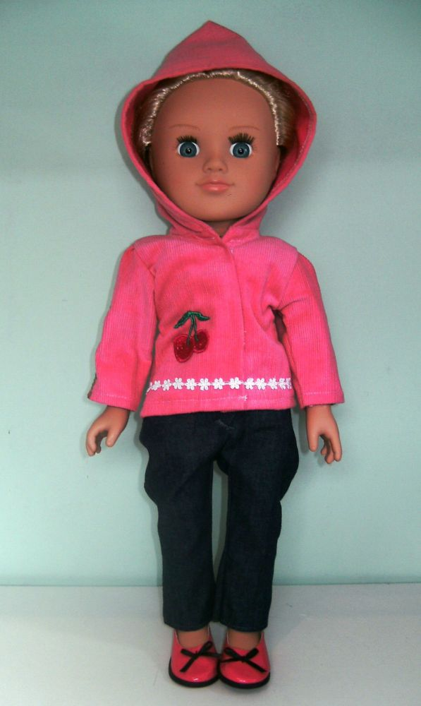 dolls hooded cord jacket with hood up