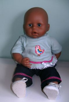 Doll's jeans and top to fit Baby Annabell