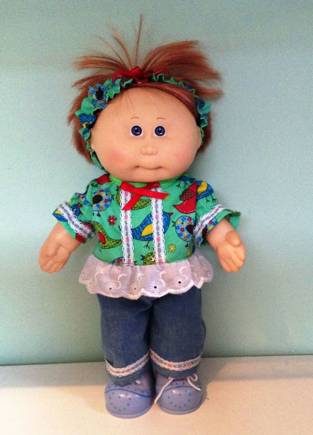 Doll's top, jeans and Alice band set