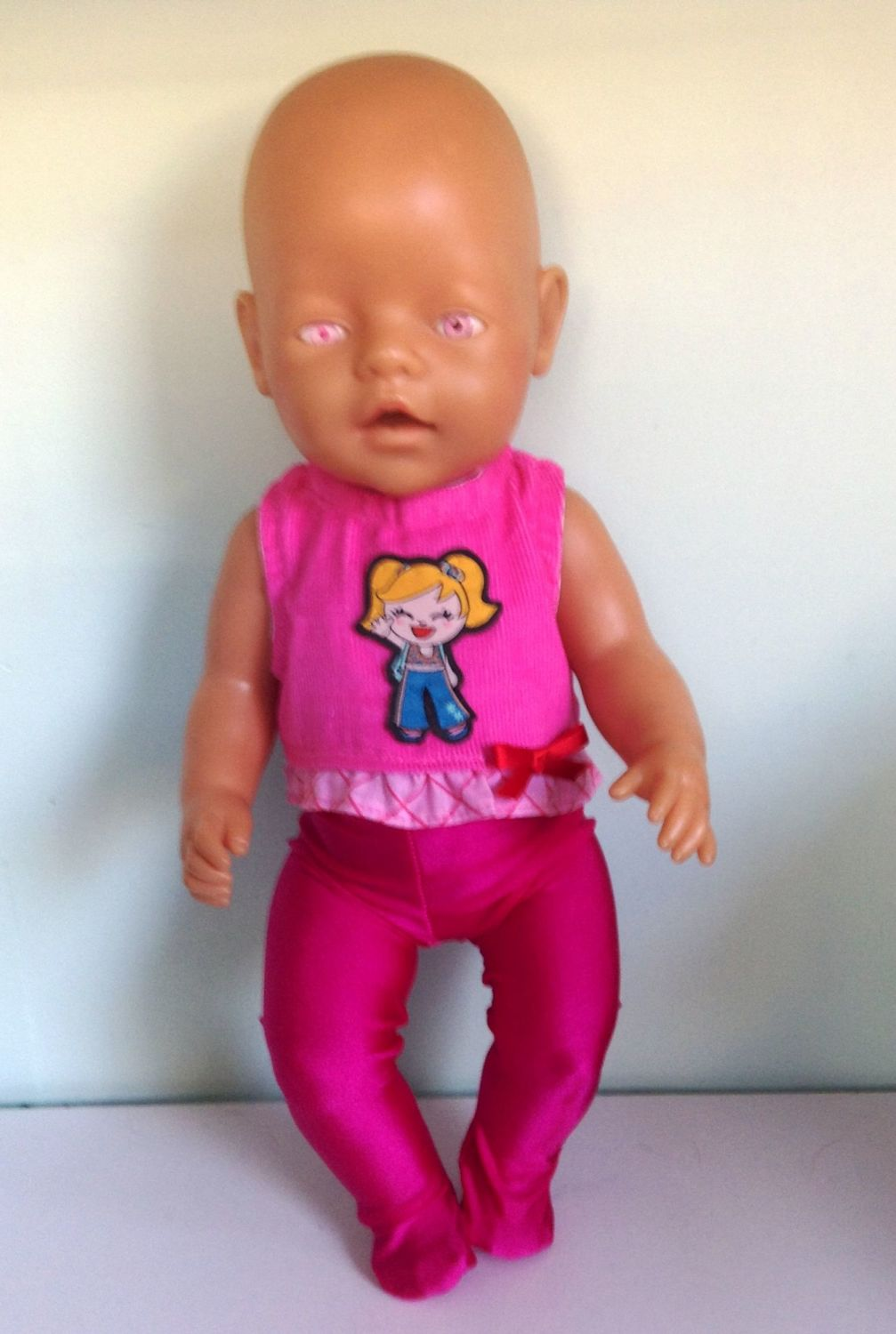 Dolls top and tights to fit Baby Born doll and most 16 inch baby dolls