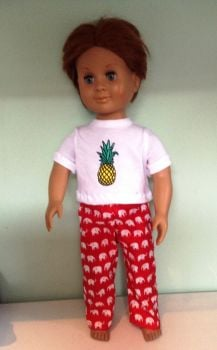 Pajamas to fit a 18 inch high boy doll