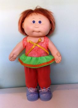 Doll's angel top and tights made to fit 14 inch high Cabbage patch doll