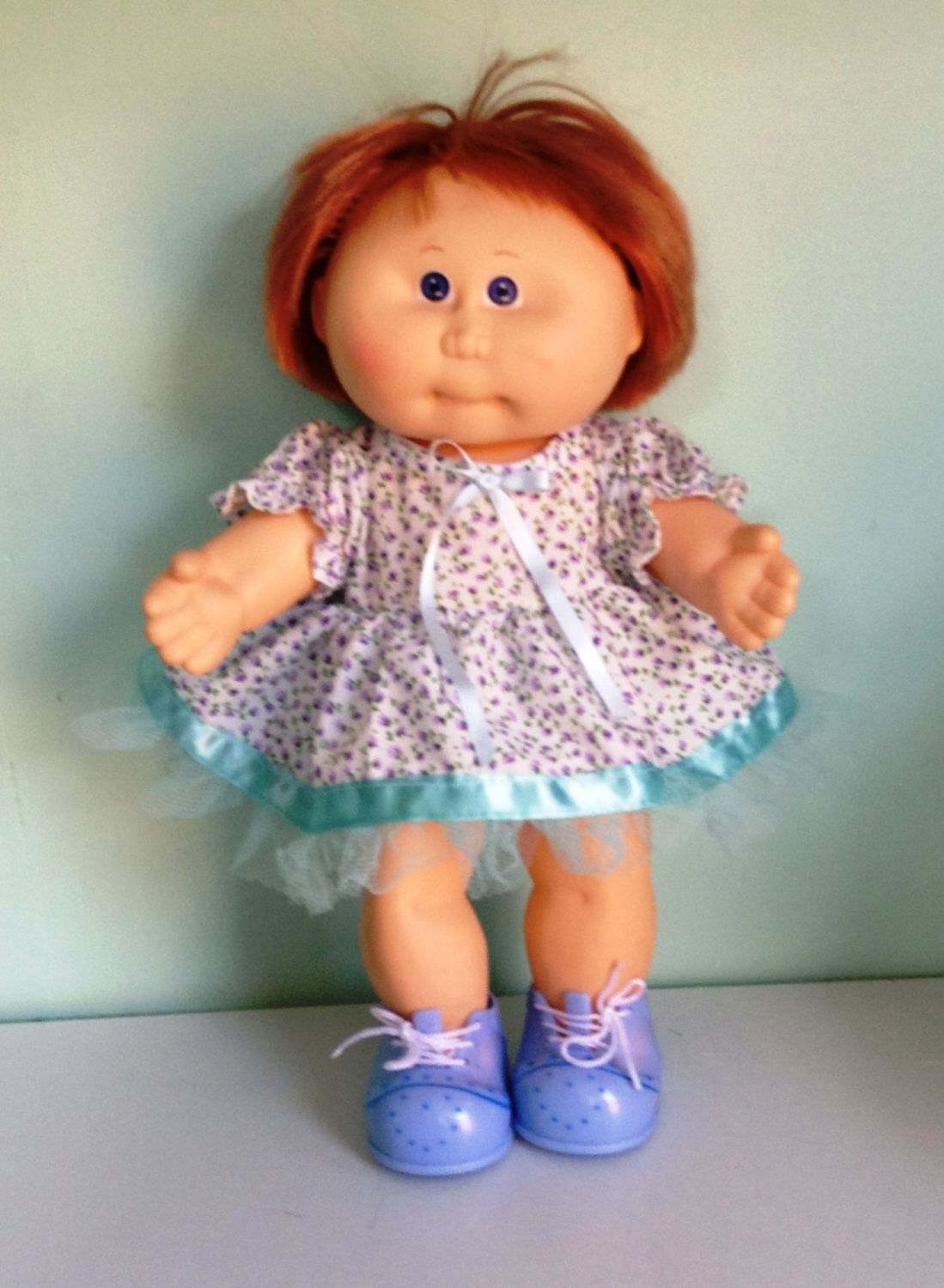 Doll's dress and panties set made to fit a 14 inch high Cabbage patch doll