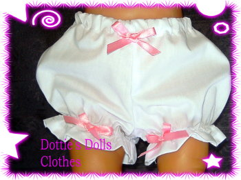Dolls white panties to fit Baby Born and most 16 inch Baby dolls