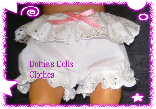 Dolls white panties