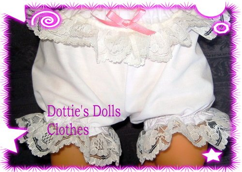 Dolls white panties  to fit Annabelle and most 18 inch baby dolls