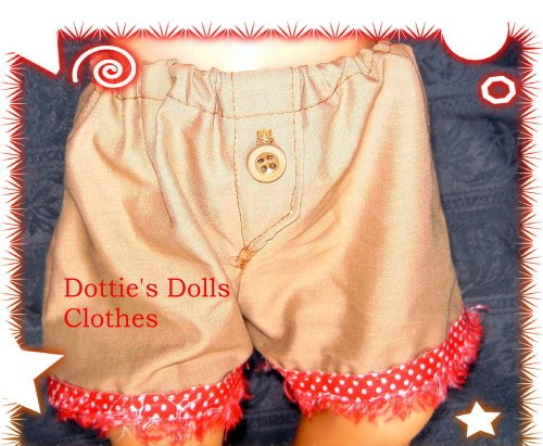 Dolls beige jockey shorts for Baby born girl doll