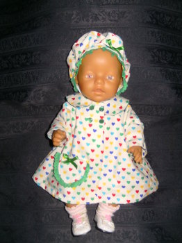 Dolls coat and beret to fit Baby Born doll