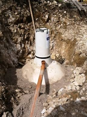 Klargester Alpha septic tank incorrect installation