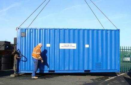 Apex 100 person mobile sewage treatment plant built into a container