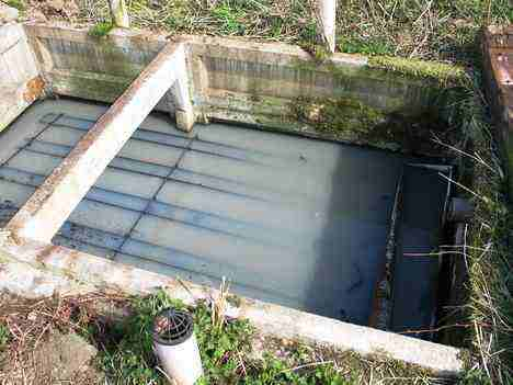 old Thorpcrete trickle filter sewage plant failure