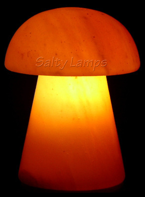Himalayan Crystal Rock Salt Lamp (Mushroom Shape)