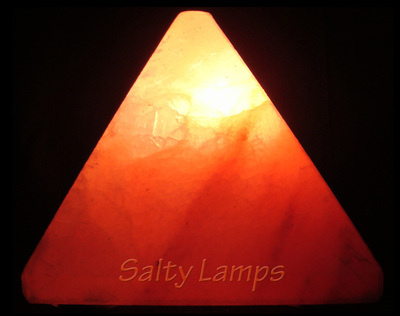 Himalayan Crystal Rock Salt Lamp (Pyramid Shape)