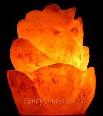 Himalayan Crystal Rock Salt Lamp (Flower Shape)
