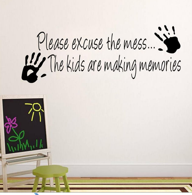 Wall Art Sticker - Please excuse the mess