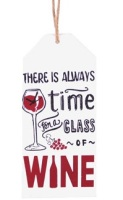 Wooden Hanging Plaque - Wine