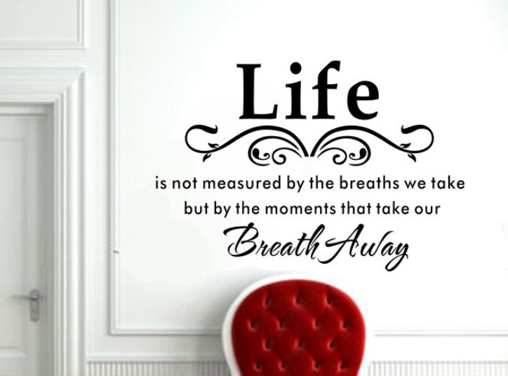 A Wonderful Inspiration Quote about Life Vinyl Wall Art Stickers