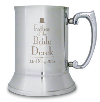 Wedding Stainless Steel Tankard - Best Man, Groom, Usher etc