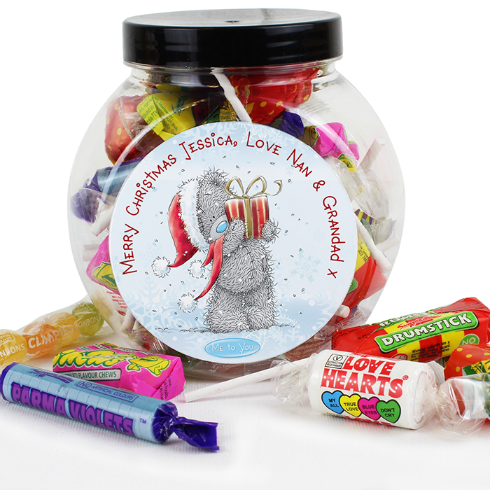 Personalised Me To You Christmas Sweet Jar