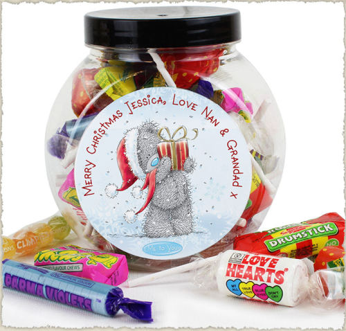 Me to you personalised Christmas sweets