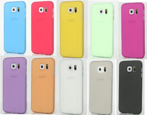 Samsung S6 Phone Case - Hard Plastic, Slightly See Through in assorted shad