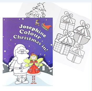 Personalised Its Christmas Fairy Colouring Book