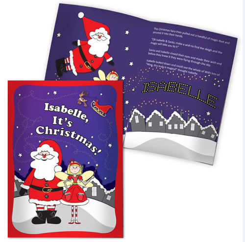 Personalised Its Christmas Fairy Story Book