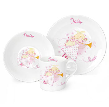 Personalised Angel Breakfast Set