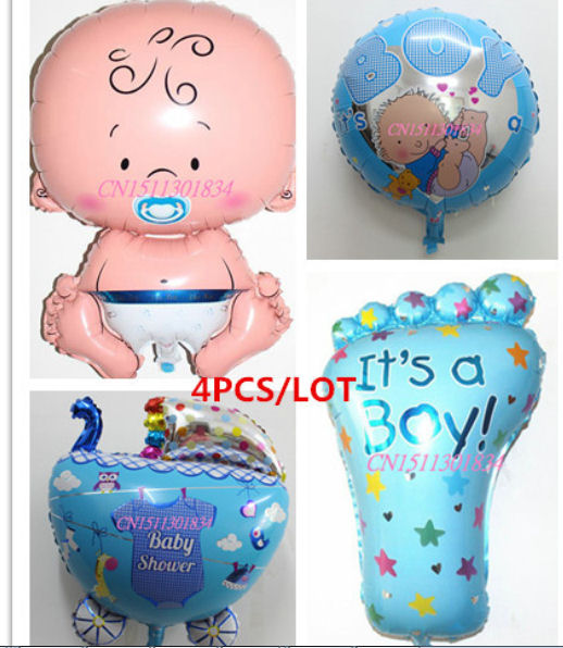 New Baby Themed Foil Balloons - Large Size, It's A Boy or Girl