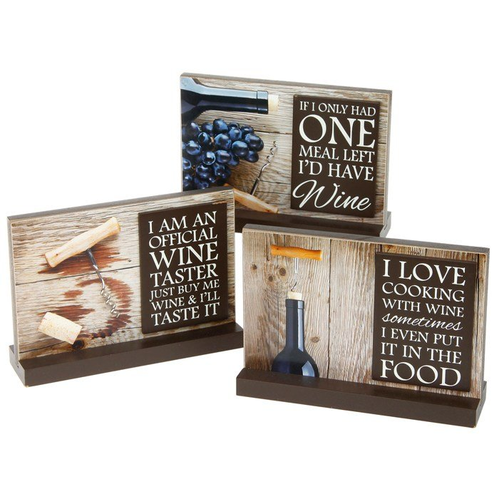 Wine Style Picture Standing Plaque