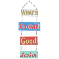 What's Cookin' Good Lookin' Hanging Plaque