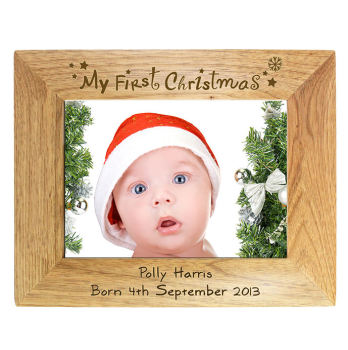 Personalised My First Christmas Photo Frame