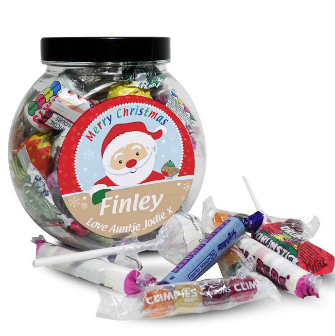 Personalised Christmas Sweet Jar - Choice of Characters