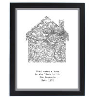 Personalised Old Series Map Home Framed Print
