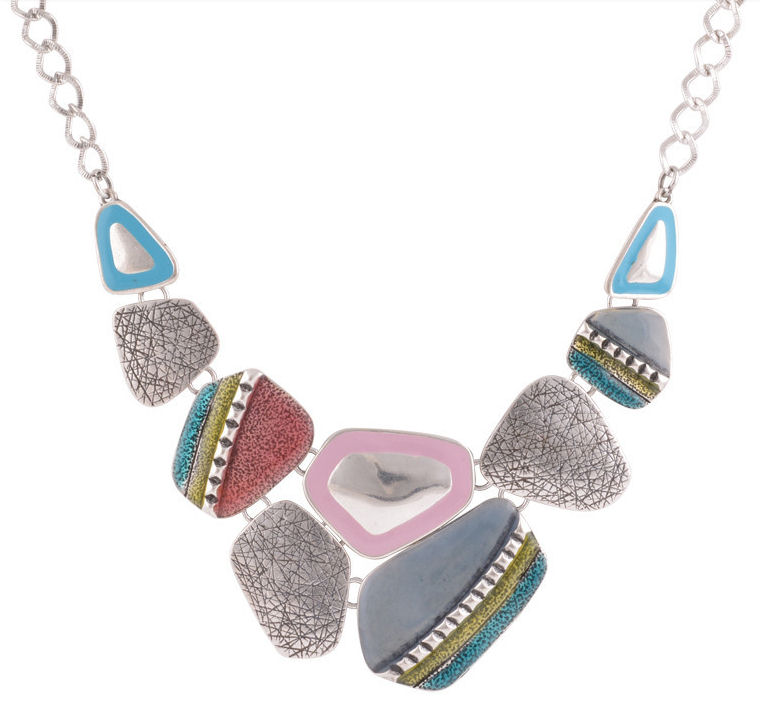 Multi Coloured Ethnic Style Necklace