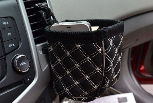 Hanging Pouch Car Gadget - Great for Mobile Phone, Make-up and other useful