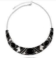 Vintage Style Black & Silver Statement Necklace