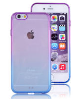 Purple and Blue Apple iPhone 6 Silicone Soft Protective Cover