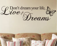 Don't Dream Your Life, Live Your Dreams Wall Art Sticker