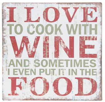 Wine plaque - love to cook