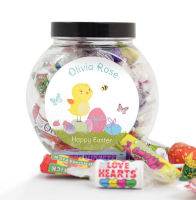 Personalised Easter Sweet Jar - Bunny or Chick Available
