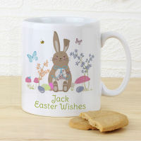 Personalised Easter Meadow Bunny or Chick Mug