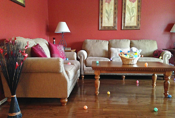 indoor easter egg hunt idea