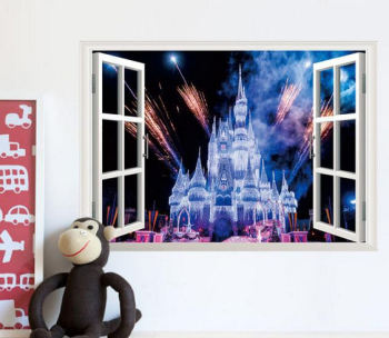 Princess Castle Wall Art Sticker