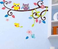 Wall Art Sticker - Baby Owls