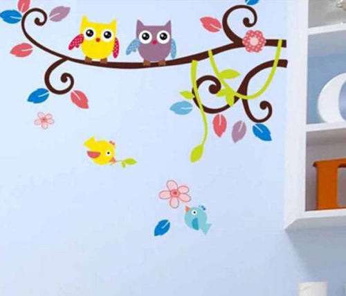 Wall Art Sticker - Baby Owls