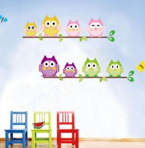 Owls Wall Art Sticker
