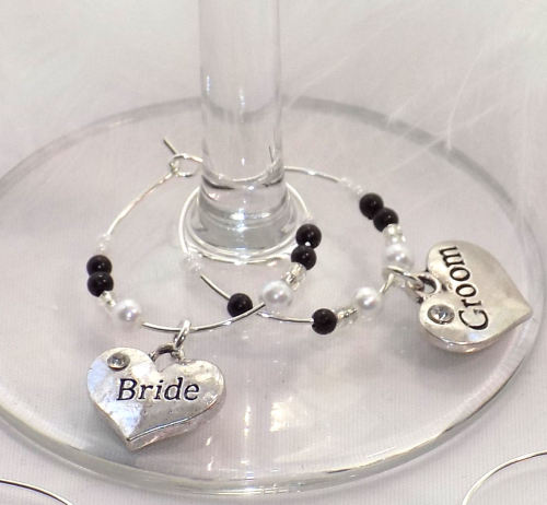 Decorative Top Table Wedding Wine Glass Charm Favour Decoration