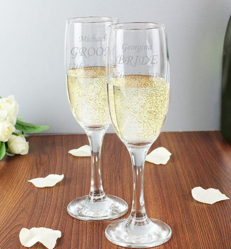 Personalised Celebration Glasses Engraved Flutes